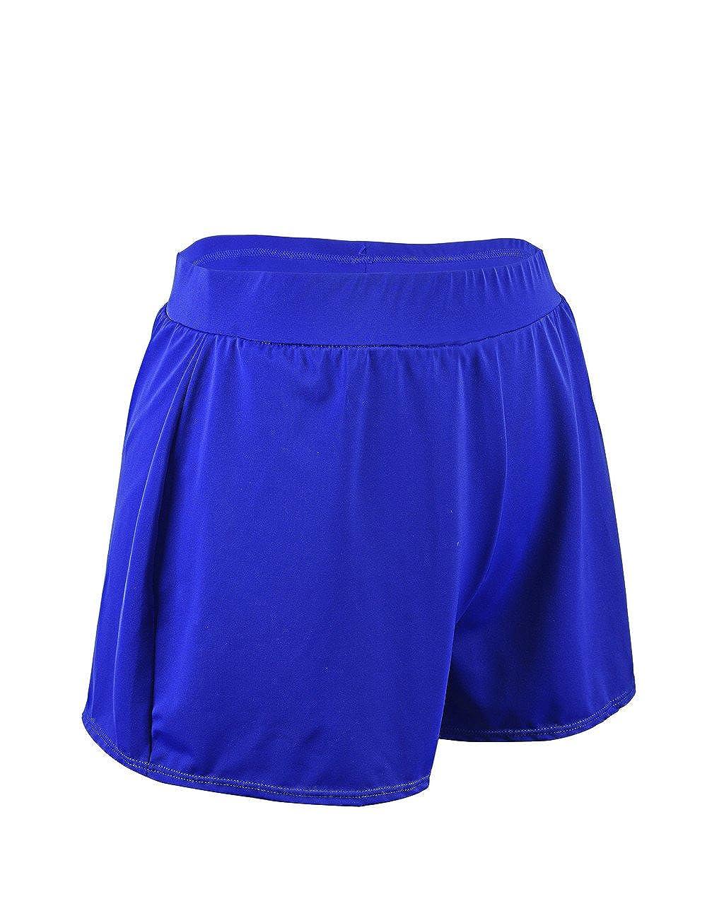 2592e96a1b6eb Sportbekleidung Rocorose Damen Einfarbig A-linien Bikini Hose Große Größen  mit Slip