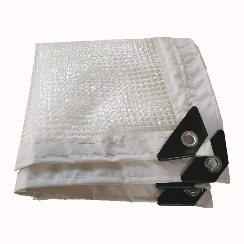 防雨防水シート グロメットの多目的で明確な防水シート、屋根のテラスの屋外のリバーシブルの防水シートカバー防水保護シートのために頑丈な防水シートカバー (色 : 白, サイズ さいず : 2x5m) B07RYWBPMF 白 2x5m