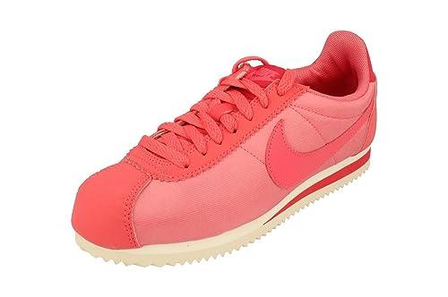 Nike Mujeres Classic Cortez Nylon Trainers 749864 Sneakers Zapatos (UK 6.5 US 9 EU 40.5, Sea Coral 802): Amazon.es: Zapatos y complementos