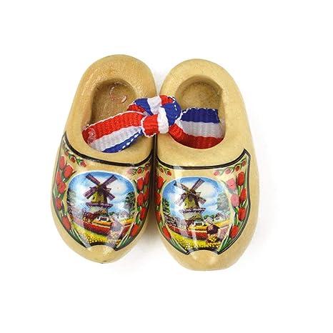 Amazon.com: Zapato de madera holandés diseño del paisaje ...