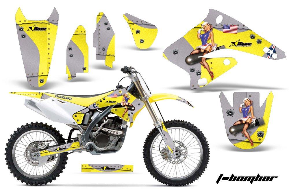 AMR Racing Graphics Kit for MX Suzuki RMZ 250 2004-2006 T-BOMBER YELLOW