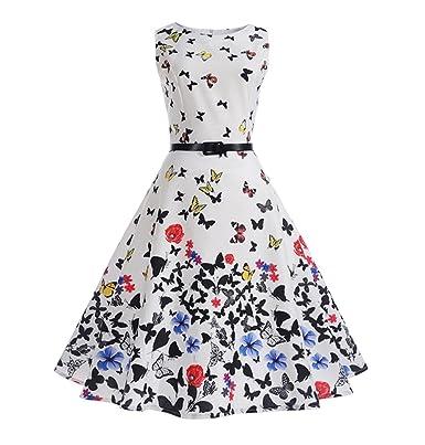 Little Hand Mädchen Chic Ärmellos 1950er Vintage Retro Kleid Hepburn Stil  Lange Kleider Party Swing Cocktail 2c706b38cc