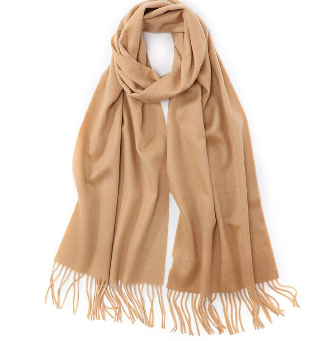 B JUN Scarf Ladies Winter Thick Warm Warm Cashmere Water Ripple Shawl Dual Purpose (color   A)