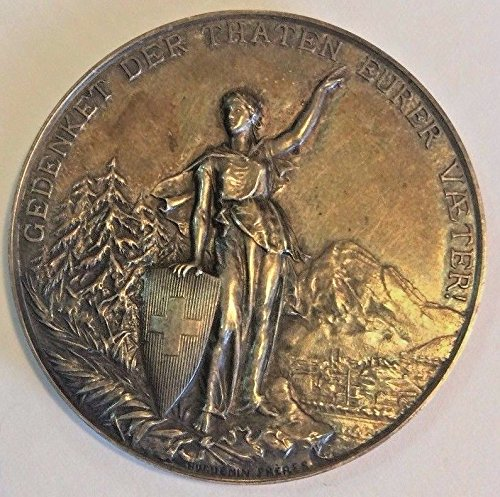 1892 CH Swiss 1892 Silver Medal Shooting Fest Glarus Silv coin Good