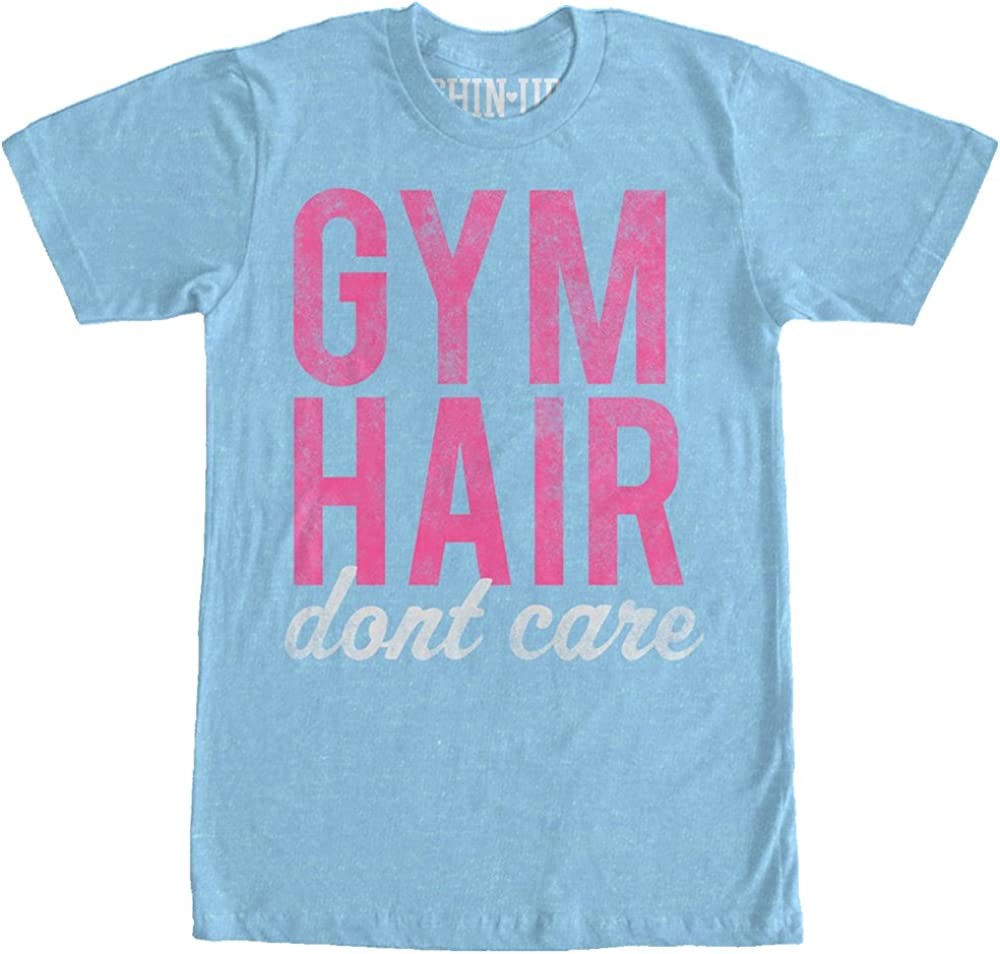 CHIN UP Hair Don't Care Womens Graphic Boyfriend Tee - Chin-Up Apparel