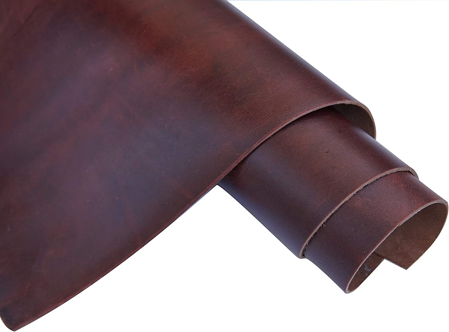 Dark Brown Leather Square 2.0mm Thick Finished Full Grain Cow Hide Leather Arts Crafts Tooling Sewing Hobby Workshop Crafting Leather Accessories 6X12 QYHQ
