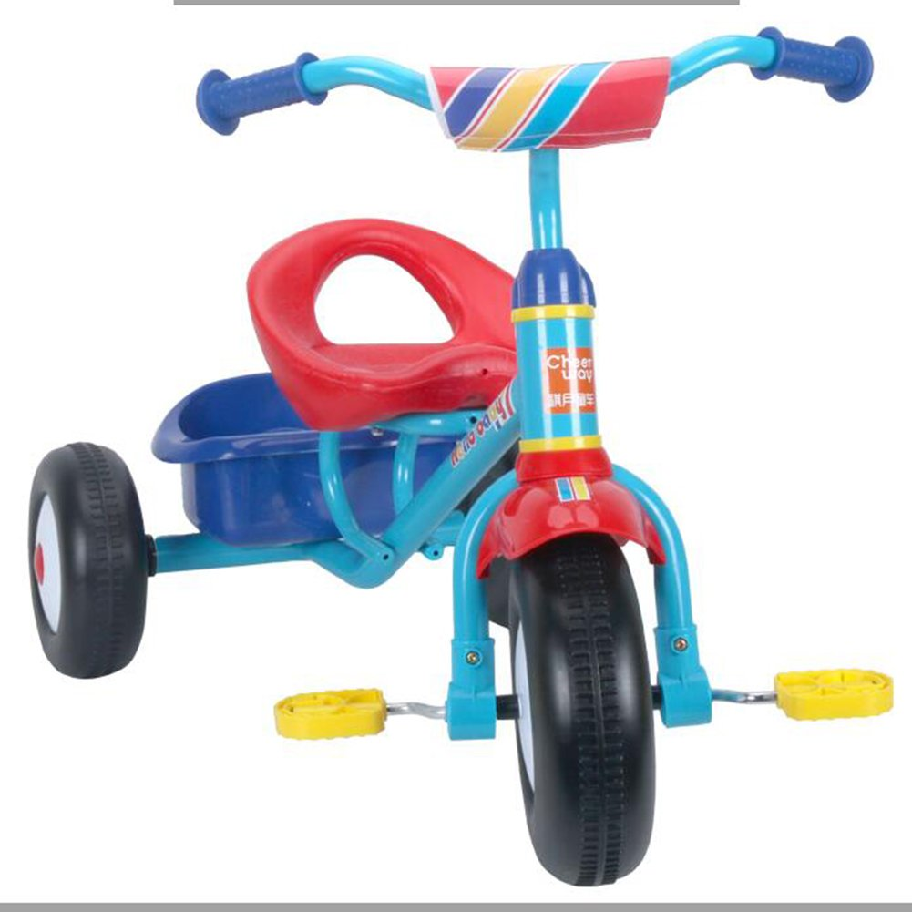 XQ 子供の軽量プラスチックホイール1-3-5歳の三輪車 子ども用自転車 ( 色 : Red plus blue ) B07C77HWQ9Red plus blue