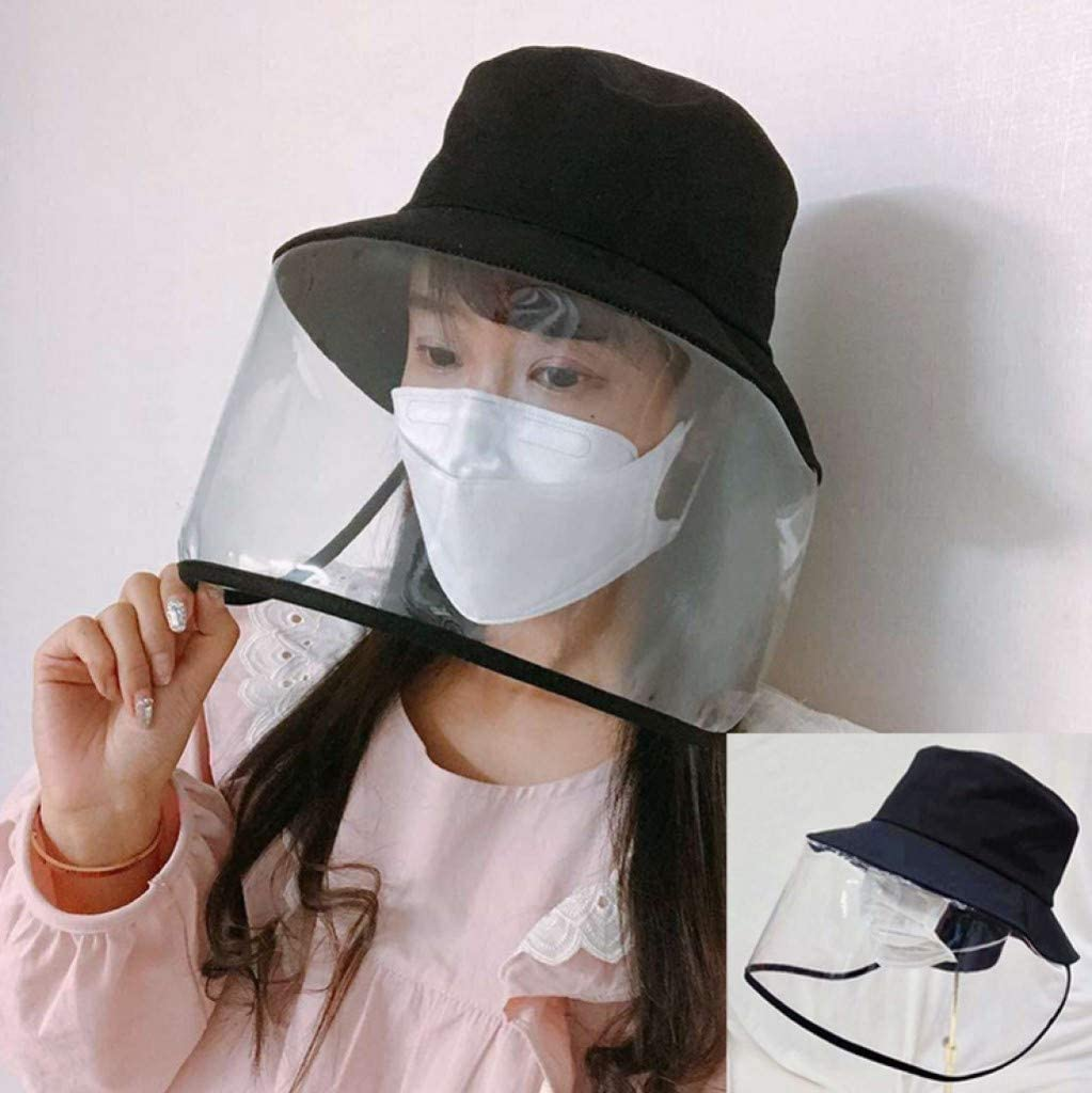 MORCHAN Protective Hats Protection Against Viruses Isolation Cap Anti-Spitting/&Saliva Face Mask Cover Adjustable Size Waterproof /& Dust-proof Outdoor Sun Shade Fisherman Cap