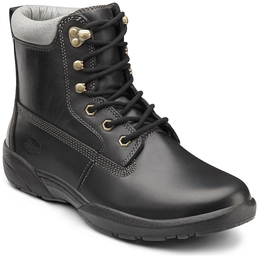 Comfort Mens Boss Black Diabetic Boots Dr
