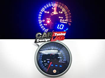 (1) 52 mm JDM TURBO BOOST Gauge Medidor alerta humo lente blanco ámbar Bar: Amazon.es: Coche y moto