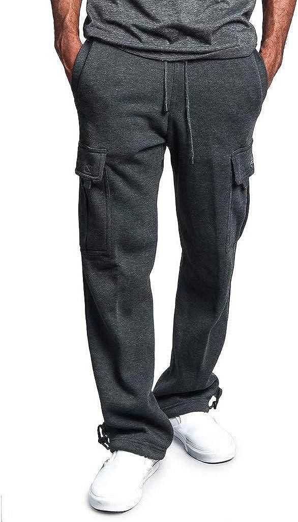 Overdose Pantalones De Hombre Overol De Empalme Casual Pocket Sport Work Pantalones De Pantalón Casual Trabajar Pantalones De Chándal Largos Pantalon Palazzo Negro