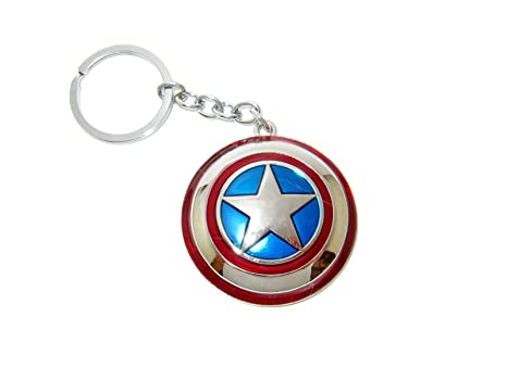 Marvel Llavero Captain America, Metal, Keychain, Keyring ...
