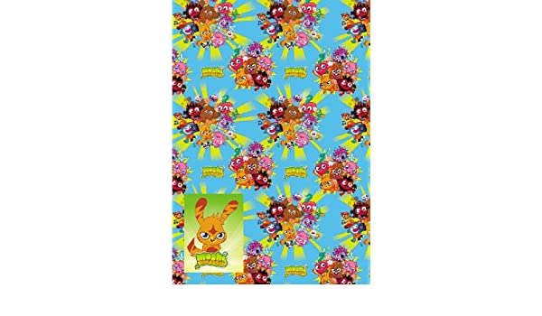 Amazon.com: Moshi Moster Wrapping Paper 2 Sheets and 2 Tags: Home & Kitchen