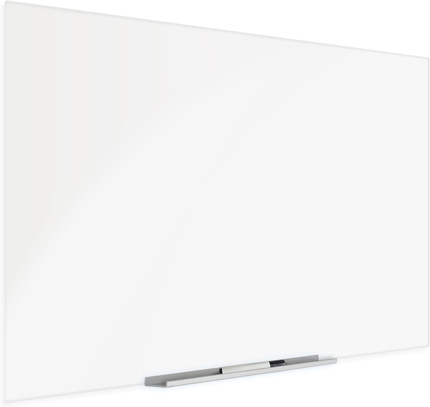 36 x 60 Inch Frameless White Low Iron Glass Magnetic Dry-Erase Board Eased Corners Floating Whiteboard by Fab Glass and Mirror