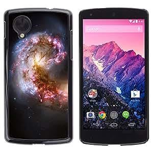 Fuerzas Nube clandestinas - Metal de aluminio y de plástico duro Caja del teléfono - Negro - LG Nexus 5 D820 D821