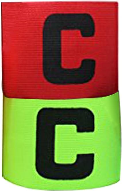 Set 2 Verstellbare Kapitänsbinde für Football Rugby Hockey Rot