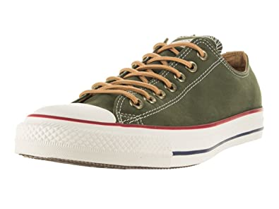 Converse Mens Chuck Taylor All Star Peached Canvas Oxford Fashion Sneaker, Back  Alley Brick,