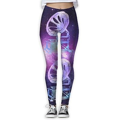 Watercolor Gramophone Women's Slim Workout Full Length Yoga Pant Skinny Leggings Pants