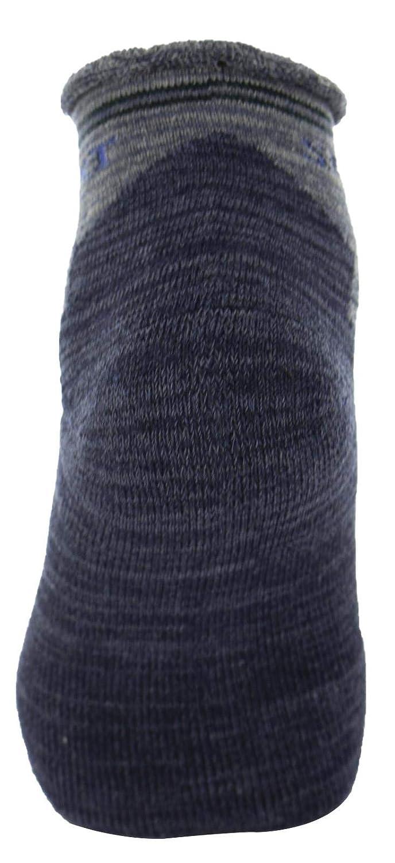 Altezza Caviglia Punta e Tallone Rinforzati in Cotone Spugna Bordo Privo di Elastico Poligono Calze da Lavoro Uomo