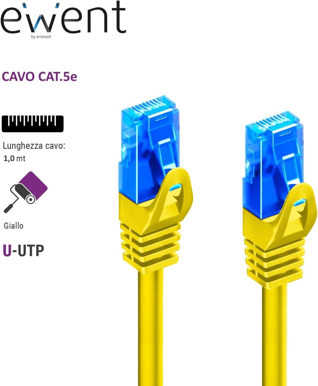 2/RJ45/Connectors Purple AWG 26//7 Cat 5e Patch U//UTP Network Cable Ewent