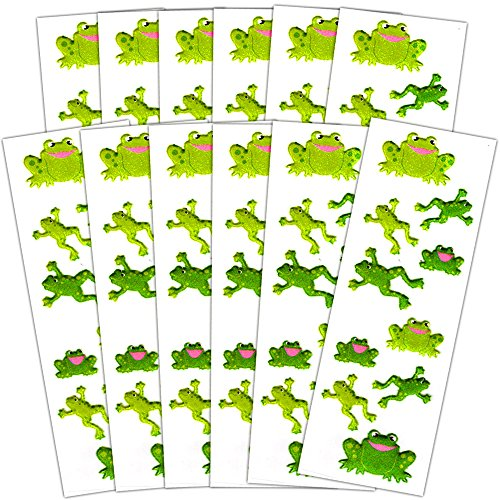 Puffy Frog (Frog Stickers Party Supplies Pack -- Over 120 Frogs Stickers (12 Party Favor Sheets))