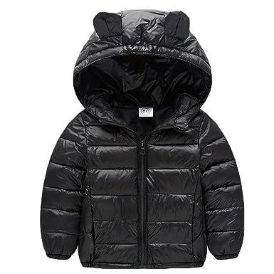 471dfec2c Amazon.com  Baby Boys Girls Winter Puffer Down Jacket Kids Ear Warm ...