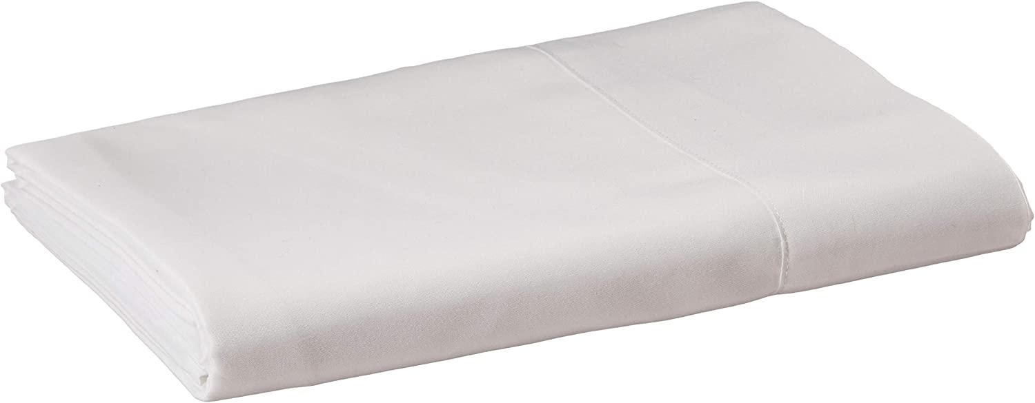 CC&DD HOME FASHION Velvety Brushed Microfiber Flat Sheets, 2-Pack Twin, White: Home & Kitchen
