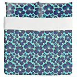 Hibiscus Hawaii Duvet Bed Set 3 Piece Set Duvet Cover - 2 Pillow Shams - Luxury Microfiber, Soft, Breathable