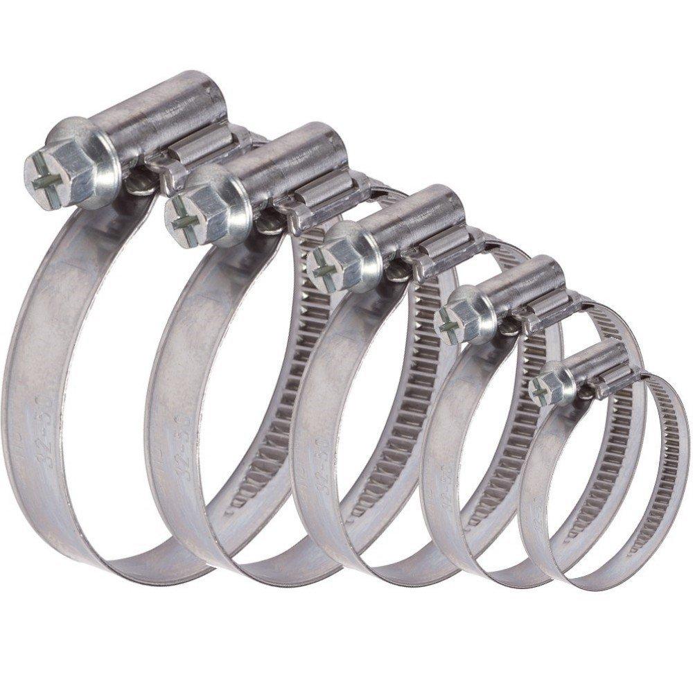 AUPROTEC Collier de Serrage /à vis en acier inoxydable V2A W2 DIN 3017 choix 120-140 mm 1 pi/èce