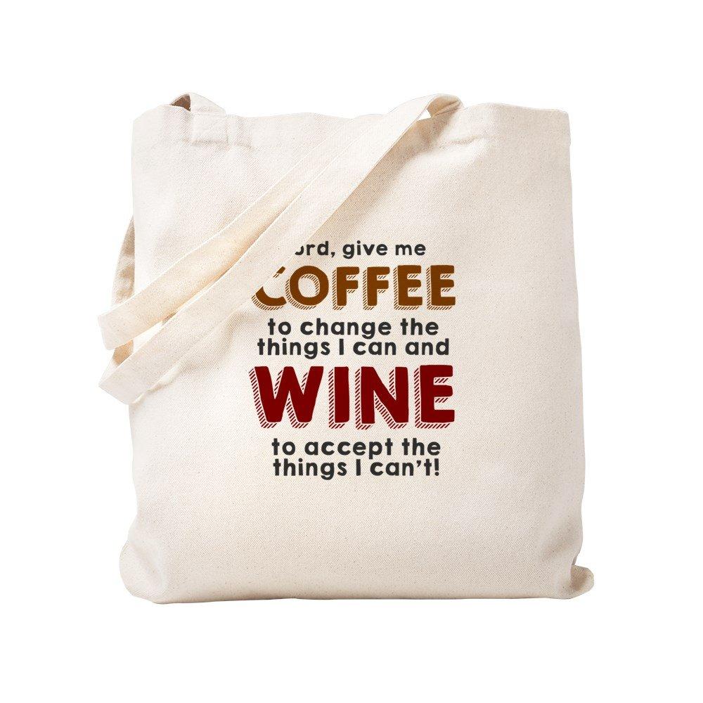 CafePress – コーヒーとワイントートバッグバッグ – ナチュラルキャンバストートバッグ、布ショッピングバッグ S ベージュ 1324388250DECC2 B0773QC79K  S