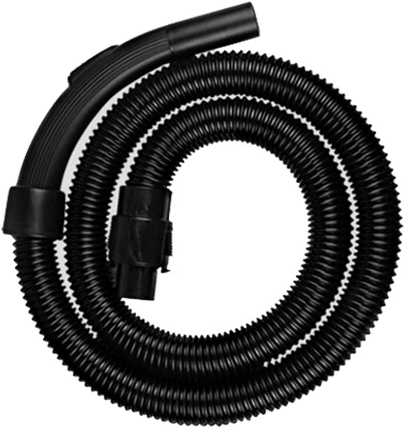1m Universal Extension Dust Collection Threaded Hose 32mm Attachment Pipe for Industrial or Household Vacuum Cleaner Black