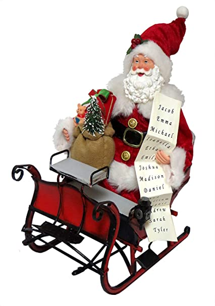 Amazon.com: Santas Workshop 3997 Santa, 11.8 in, color rojo ...