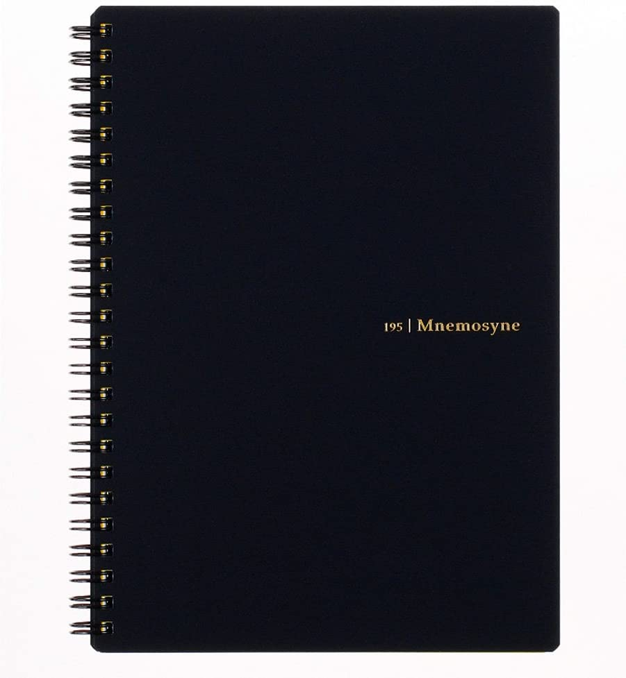 Maruman MNEMOSYNE Notebook 8.27 x 5.83 Inches (A5), 7mm ruled 24-line, 80 Sheets (N195A)