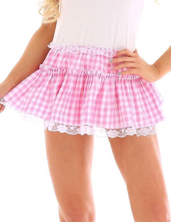 IEFIEL Falda a Cuadros Mujer Sexy Minifalda Plisada Club Falda ...