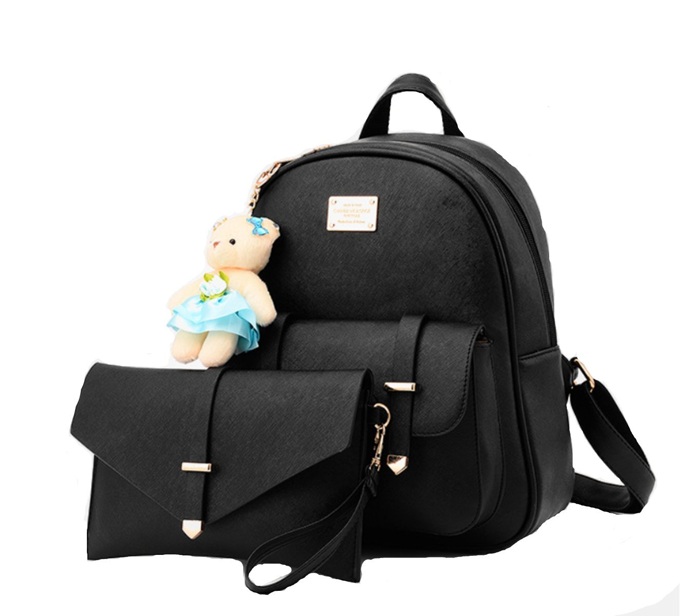 beautywjyスクールバッグカジュアルレザーバックパックPurse Satchelナップサックfor College B072L5XCNH 16# 16#