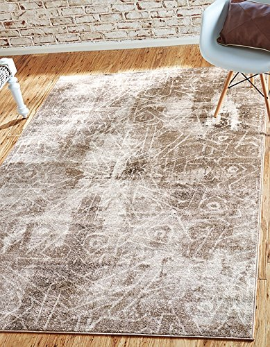 Unique Loom Sofia Collection Dark Beige 5 x 8 Area Rug (5' x 8')