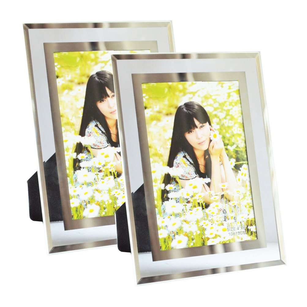 Giftgarden Bilderrahmen 10 x 15 cm 2er Set Glas Fotorahmen Hochzeit ...