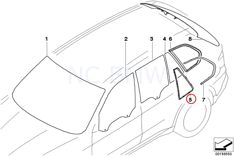 For BMW E53 X5 00-06 Cover Cap for Door Mirror Passenger Right Side GENUINE New