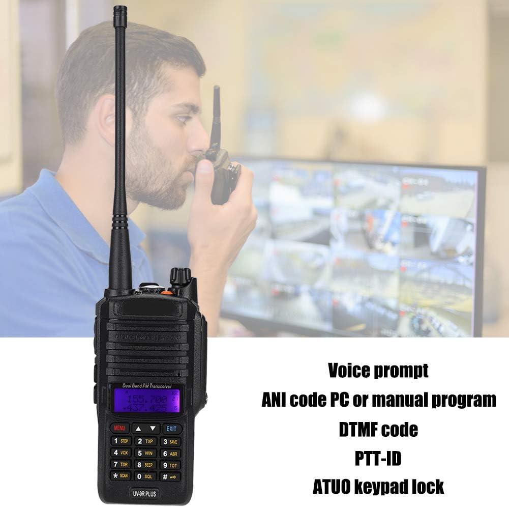 Yoidesu UV-9R Plus Walkie Talkie,High Power IP67 Waterproof CB Radio,136-174//400-520MHZ VHF UHF Dual Band Handheld Two Way Radio,Walkie Talkie Transceiver with Built-in 8000 mAh Battery US Plug