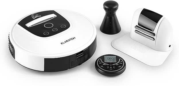 Klarstein 10028520 aspiradora robotizada Blanco 0,37 L - Aspiradoras robotizadas (Blanco, Alrededor, 0,37 L, 55 dB, Alfombra, Laminado, Parqué, Sensor de infrarrojos): Amazon.es: Hogar