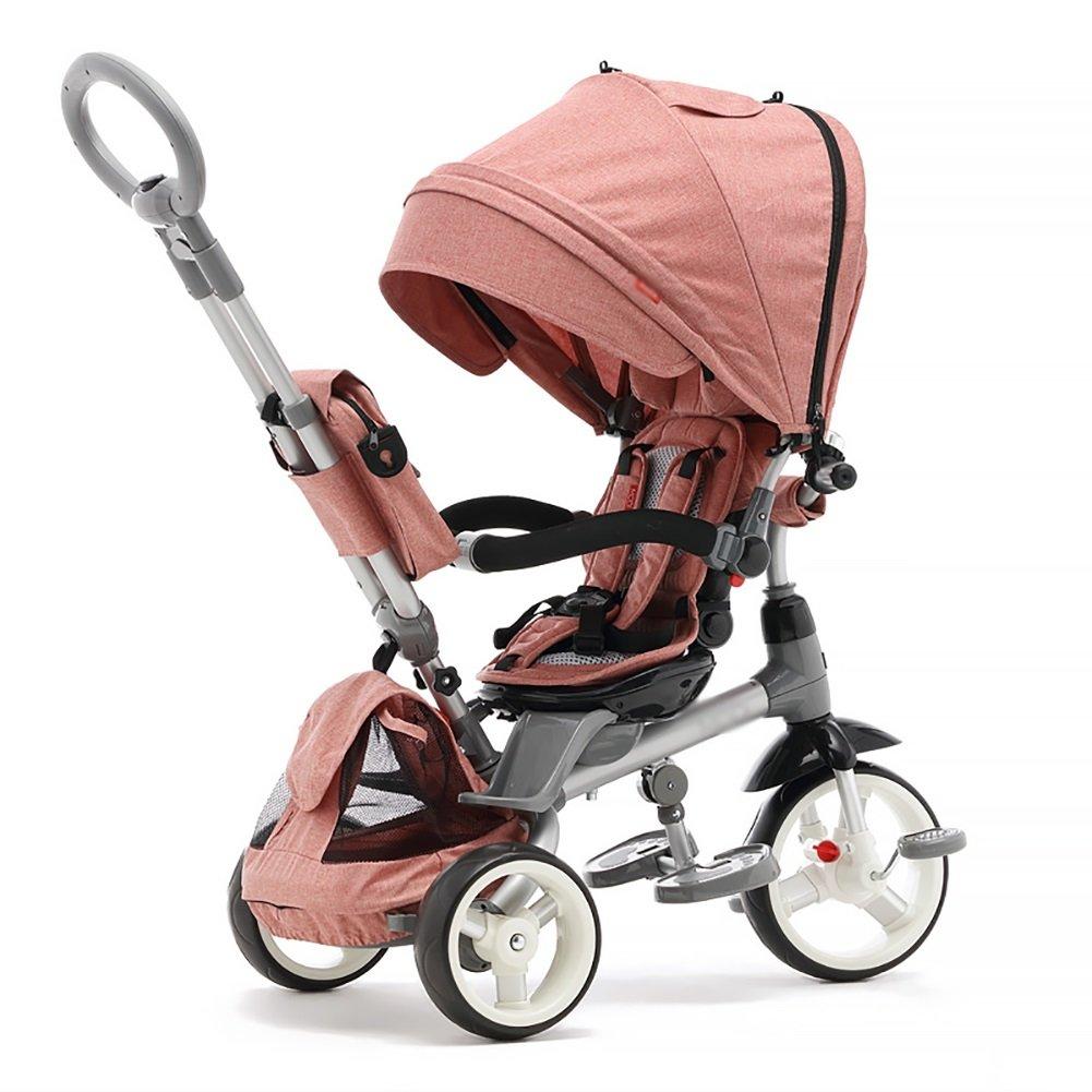 3ウィーラー子供三輪車ベビーペダルライドオン自転車シートステアリング子供Trikeベビーカー幼児用自転車屋外リクライニングバックレスト B07F6XS9NB*、117* 52* 104.5cm* B07F6XS9NB Pink Pink, 川上郡:06c888a6 --- rchagen.ru