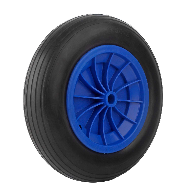 Forever Speed Brouette roue PU roue 3.50-8 Polyuré thane solide caoutchouc roue de secours 356 X 80 mm (1 PCS)