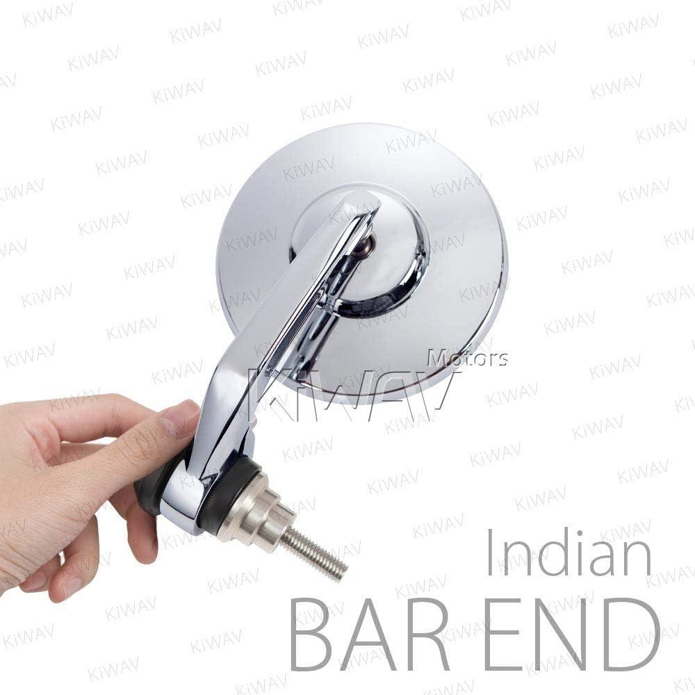 Handlebar end mirrors BOB round black short stem for Indian Scout Bobber