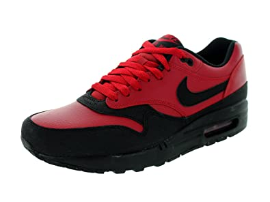 8f656e6e40eed Nike Mens Air Max 1 LTR Premium Gym Red Black Leather Size 8.5