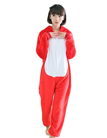 Yimidear Unisex Adult Onesie Pajamas Fox Costume Kigurumi Onesie Cosplay Costume Homewear (S)
