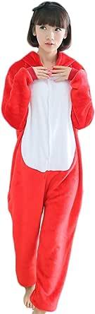 Unisexo Comodidad Suave Franela Animales Traje de Dormir Cosplay Ropa de Salón Pijamas