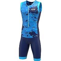 KONA Assault - Traje de triatlón sin mangas, combo con chaleco y pantalón corto en una sola pieza, zíper completo y bolsillos traseros