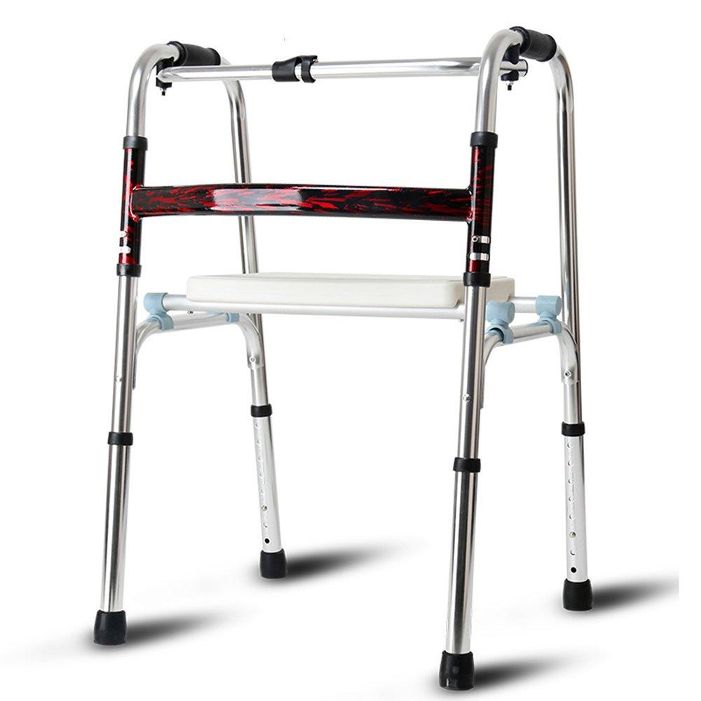QFFL 松葉杖高齢アルミ歩行補助脚四脚杖チェア歩行補助シニアトロリー4色使用可能 松葉杖ウォーカー (色 : C)  C B07B2PYDKJ