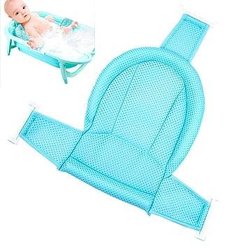 Baby Bath Support Adjustable Non-slip Baby Bath Seat Sling Comfortable Baby ...