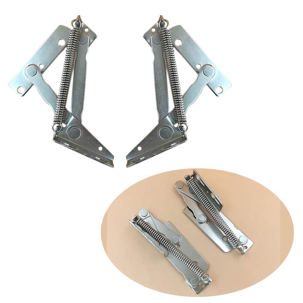 Bisagra 2 piezas de montaje f/ácil de instalar estructura de muelle puerta 80 grados cocina hogar soporte de elevaci/ón pr/áctico armario solapa superior